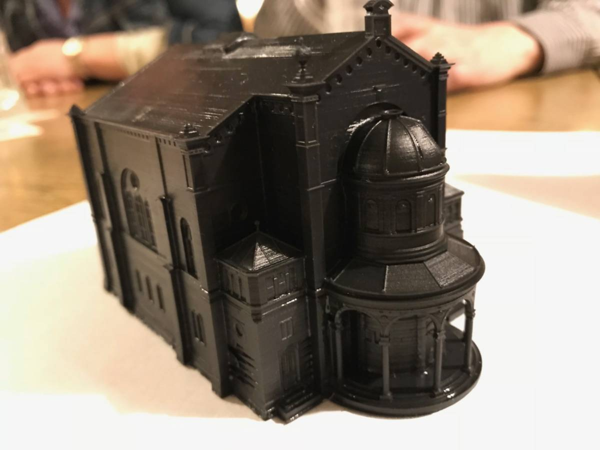 Photo © Christian Kretz: 3D-printed model of the former Bruchsal Synagogue